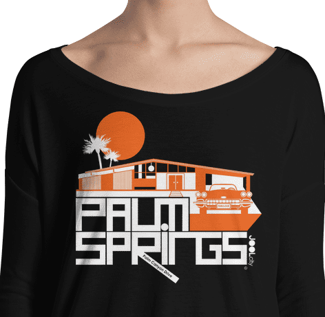 Palm Springs Glam Ranch Ladies' Long Sleeve Tee