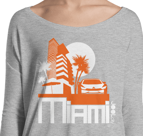 Miami Sleek City Ladies' Long Sleeve Tee