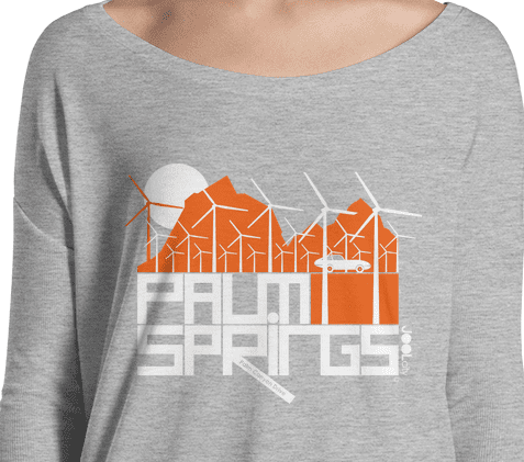 Palm Springs Wind Farm Ladies' Long Sleeve Tee