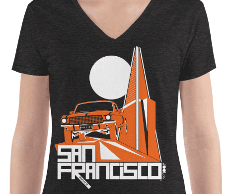 San Francisco Trans Bullitt Women's Fashion Deep V-neck Tee