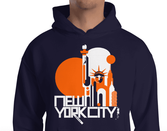 New York Lady Liberty Hooded Sweatshirt