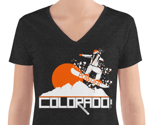 Colorado Powder Girl Women's Fashion Deep V-neck Tee