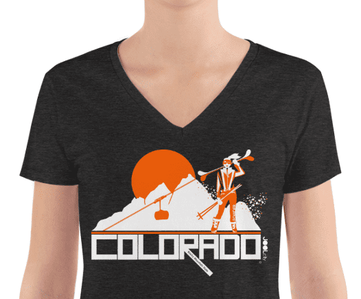 Colorado Apres Ski Women's Fashion Deep V-neck Tee