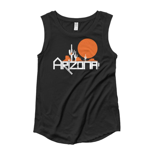 Arizona Cactus Crawlers Ladies' Cap Sleeve Tank-Top Tank Tops Black / XL designed by JOOLcity