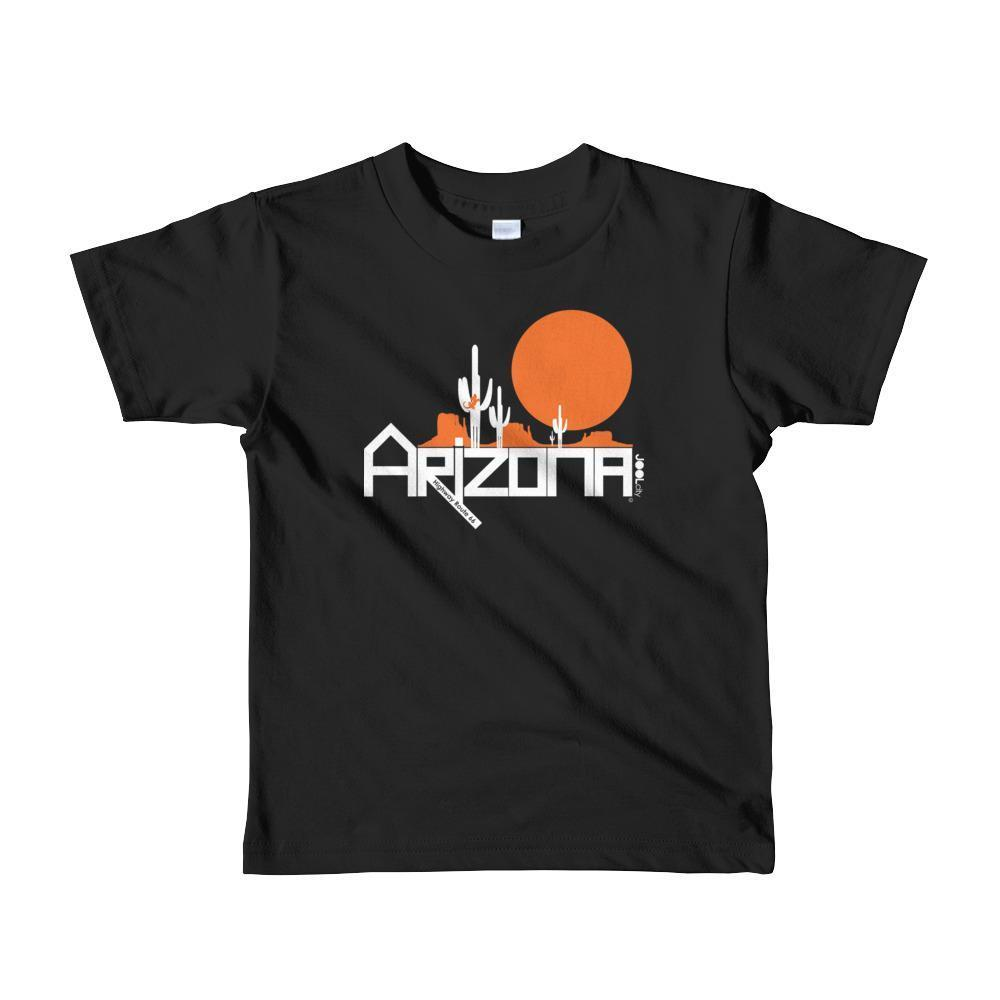 Arizona Cactus Crawlers Short Sleeve Toddler T-Shirt T-Shirts Black / 6yrs designed by JOOLcity