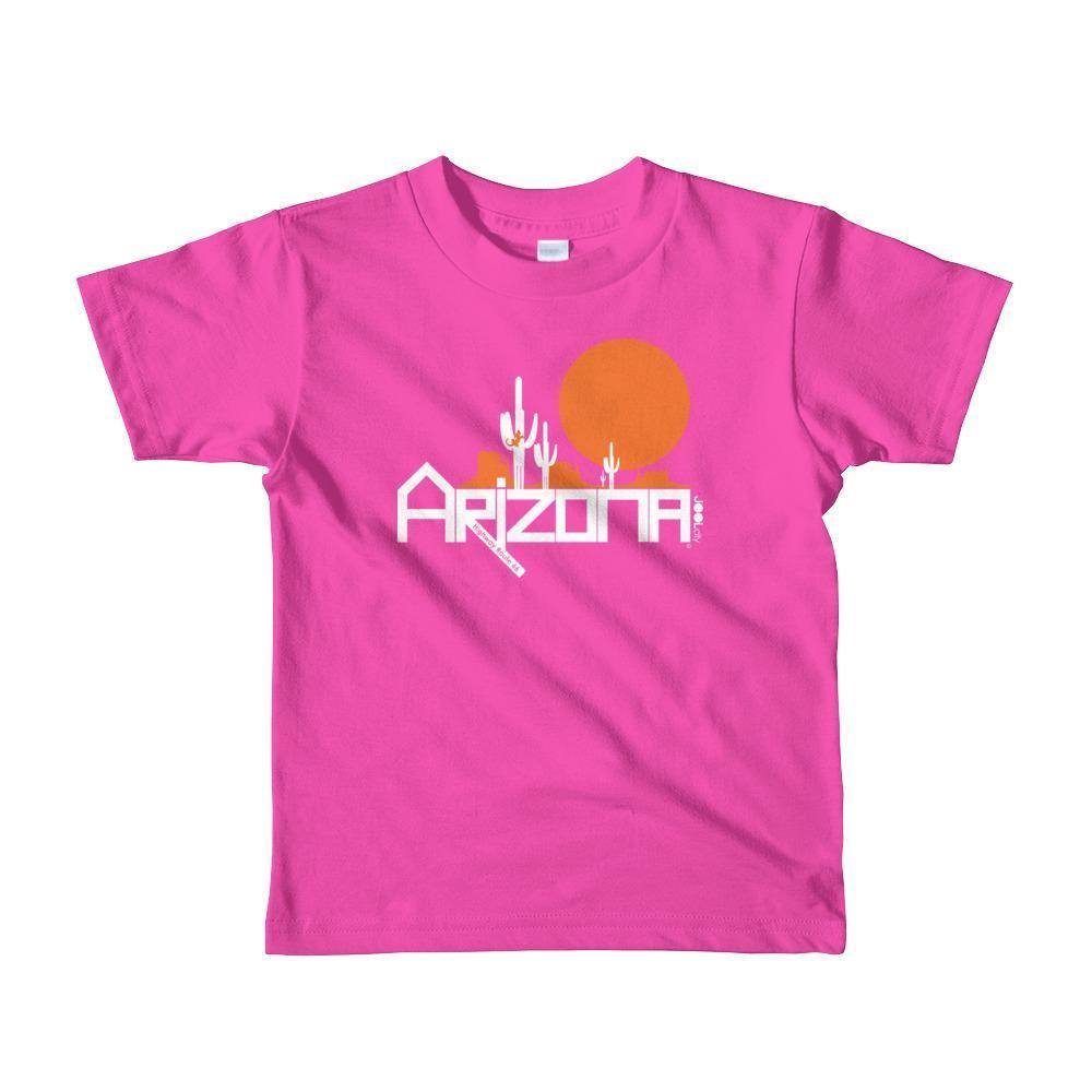 Arizona Cactus Crawlers Short Sleeve Toddler T-Shirt T-Shirts Fuchsia / 6yrs designed by JOOLcity