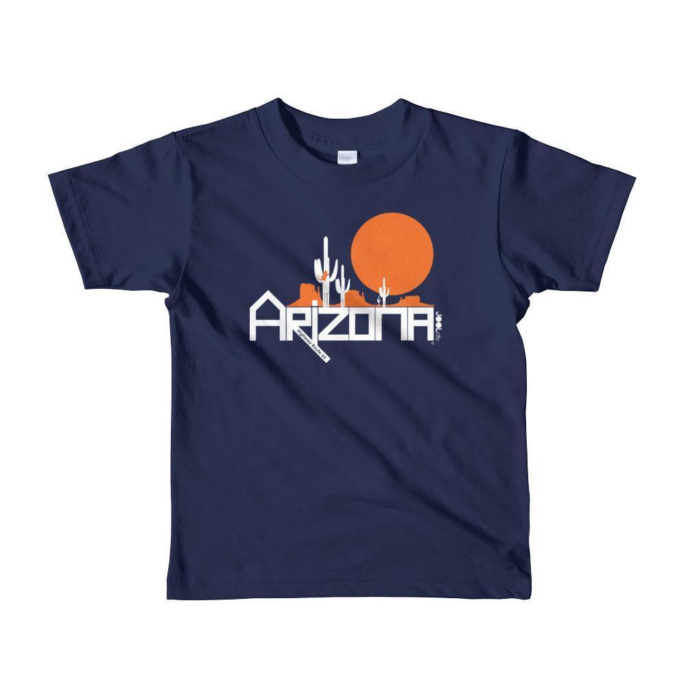 Arizona Cactus Crawlers Short Sleeve Toddler T-Shirt T-Shirts Navy / 6yrs designed by JOOLcity
