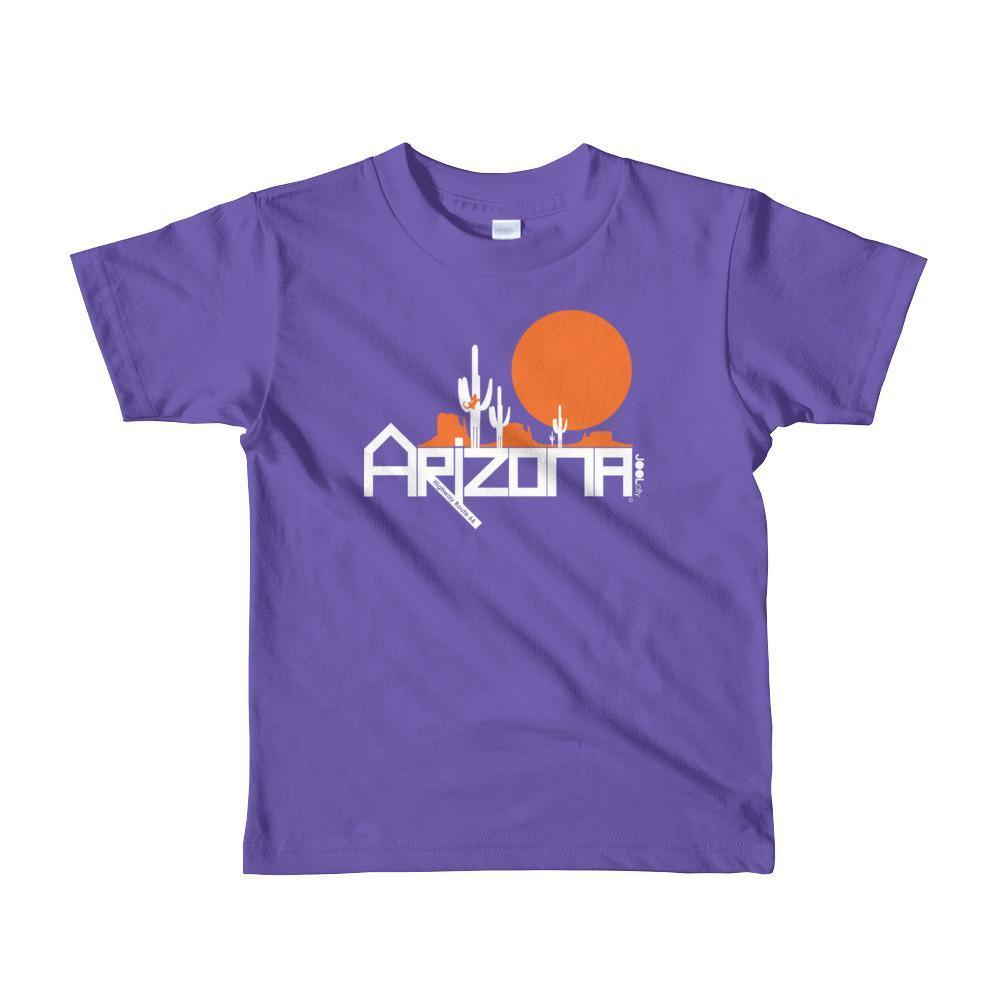 Arizona Cactus Crawlers Short Sleeve Toddler T-Shirt T-Shirts Purple / 6yrs designed by JOOLcity