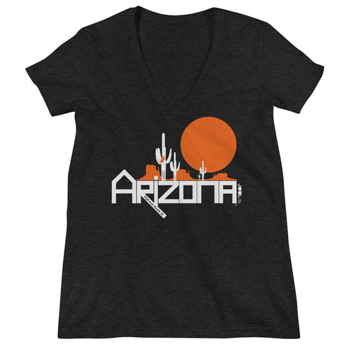 Arizona Cactus Crawlers Women's Fashion Deep V-neck Tee T-Shirts Charcoal black Triblend / 2XL designed by JOOLcity