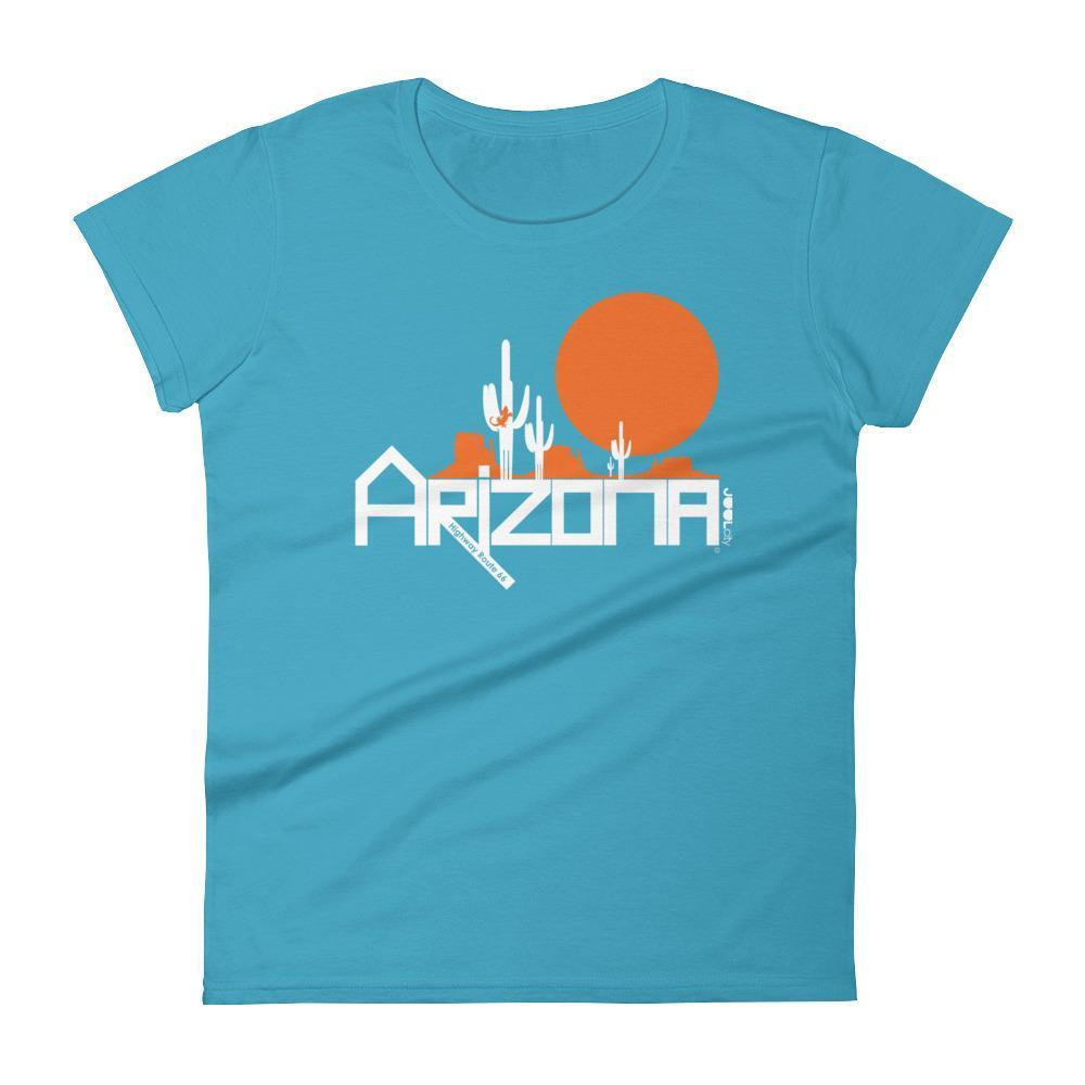 Arizona Cactus Crawlers Women's Short Sleeve T-shirt T-Shirts Caribbean Blue / 2XL designed by JOOLcity