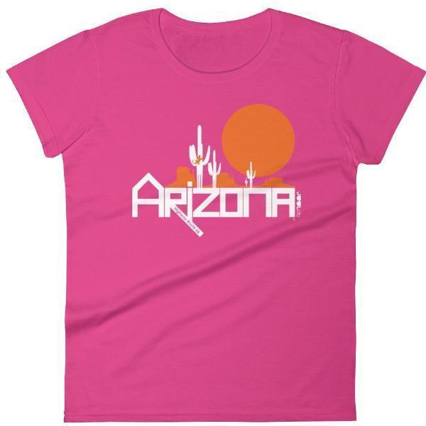 Arizona Cactus Crawlers Women's Short Sleeve T-shirt T-Shirts Hot Pink / 2XL designed by JOOLcity