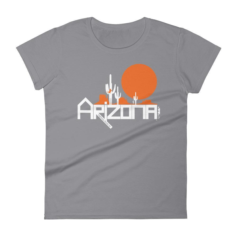 Arizona Cactus Crawlers Women's Short Sleeve T-shirt T-Shirts Storm Grey / 2XL designed by JOOLcity