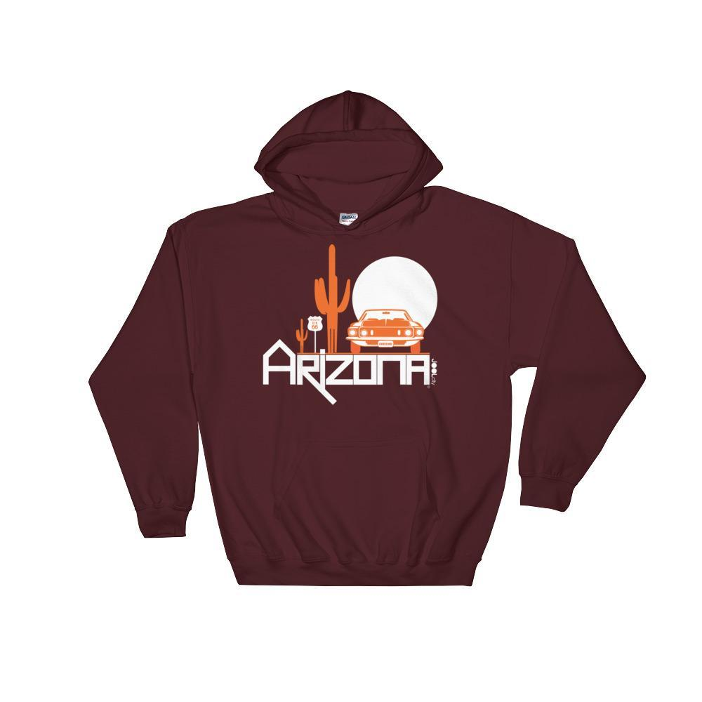 Arizona Cactus Cruise Hooded Sweatshirt Hoodies Maroon / 2XL designed by JOOLcity