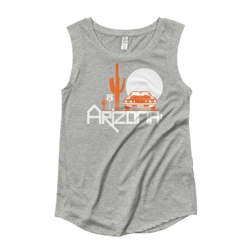 Arizona Cactus Cruise Ladies' Cap Sleeve Tank-Top Tank Tops Heather Grey / XL designed by JOOLcity