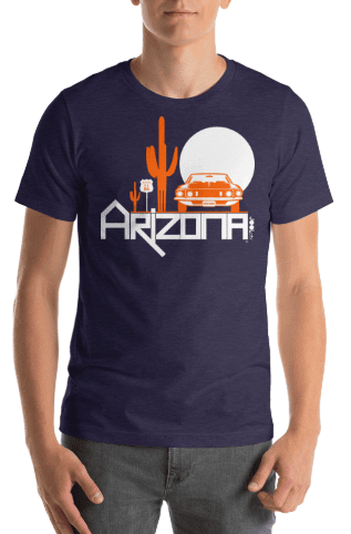 Arizona Cactus Cruise Short-Sleeve Men's T-Shirt T-Shirts  designed by JOOLcity