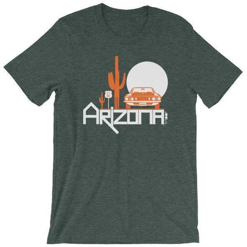Arizona Cactus Cruise Short-Sleeve Men's T-Shirt T-Shirts Heather Forest / 2XL designed by JOOLcity