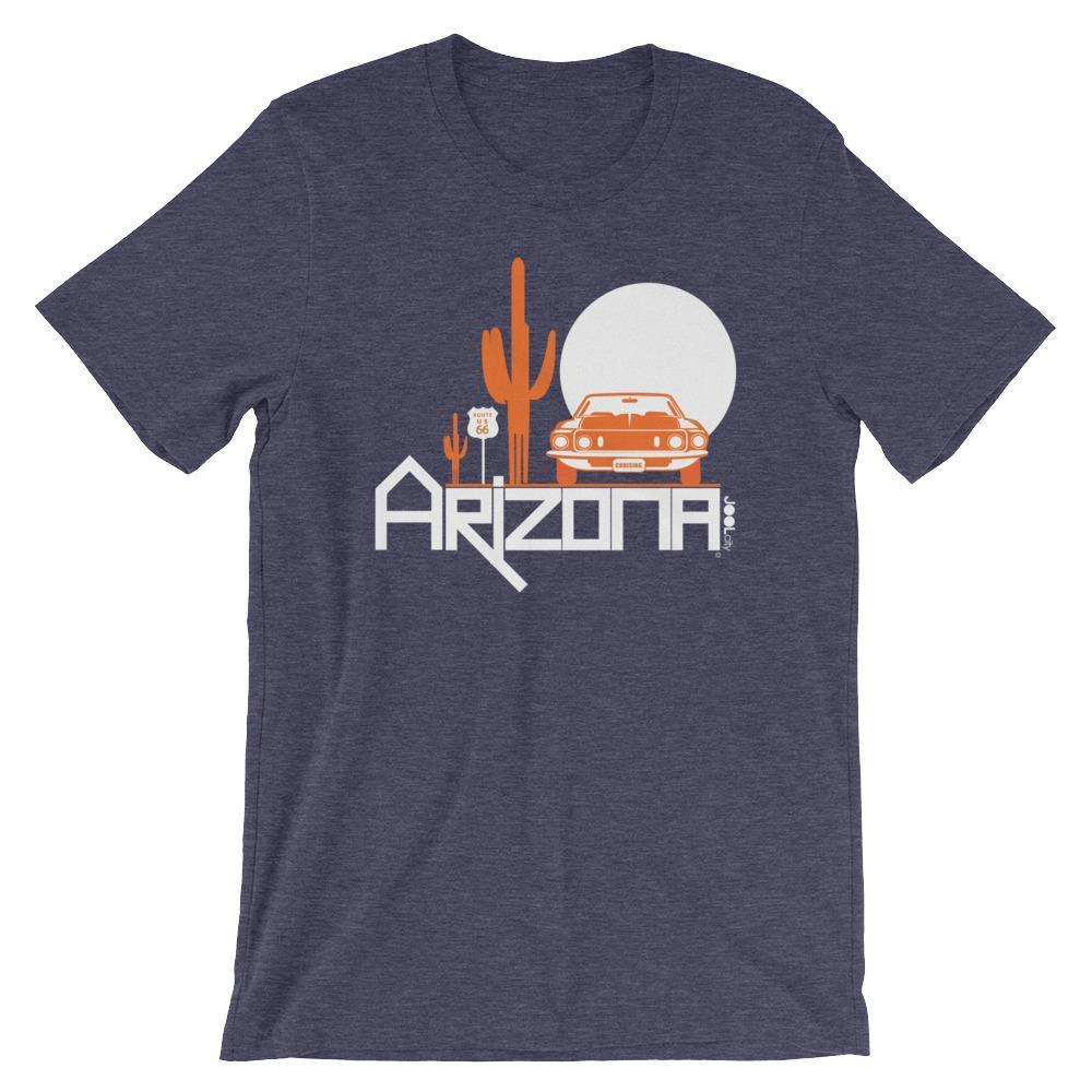Arizona Cactus Cruise Short-Sleeve Men's T-Shirt T-Shirts Heather Midnight Navy / 2XL designed by JOOLcity