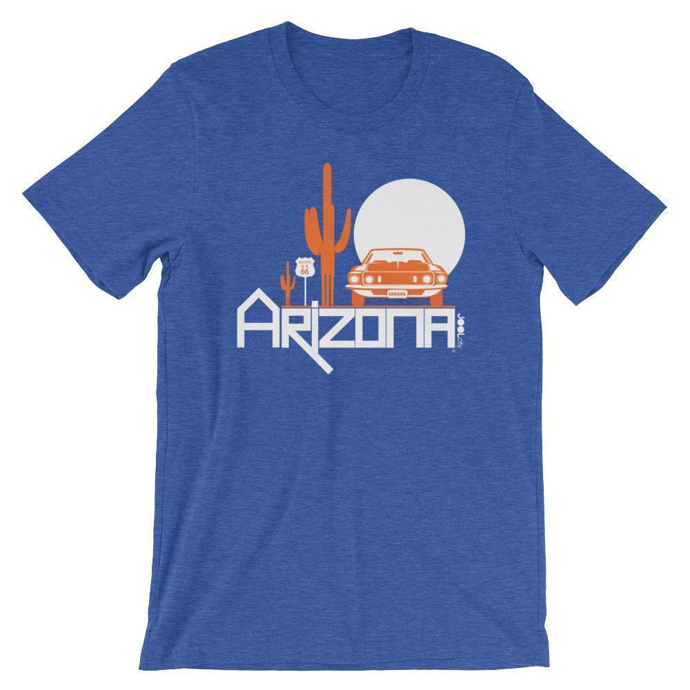 Arizona Cactus Cruise Short-Sleeve Men's T-Shirt T-Shirts Heather True Royal / 2XL designed by JOOLcity