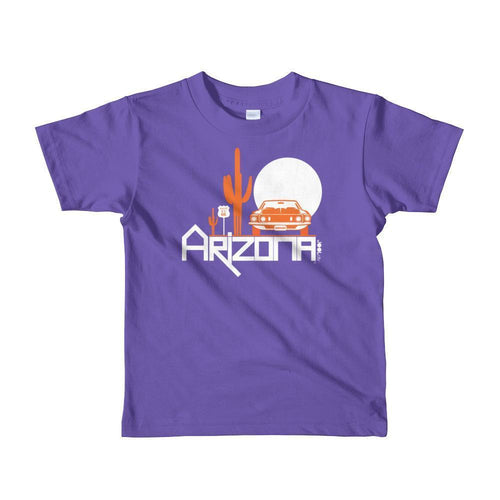Arizona Cactus Cruise Toddler Short Sleeve T-shirt T-Shirts Purple / 6yrs designed by JOOLcity