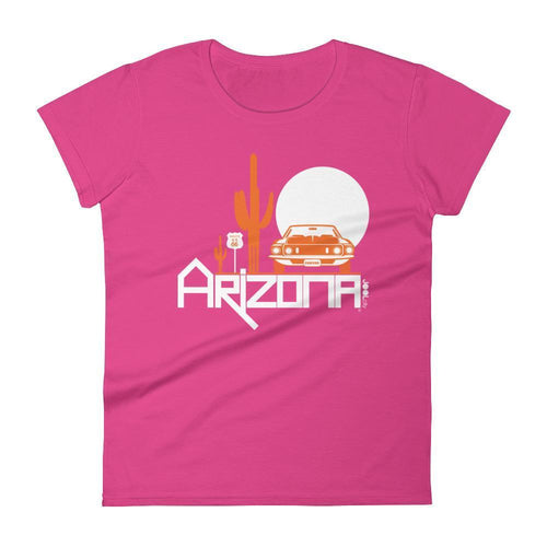 Arizona Cactus Cruise Women's Short Sleeve T-shirt T-Shirts Hot Pink / 2XL designed by JOOLcity