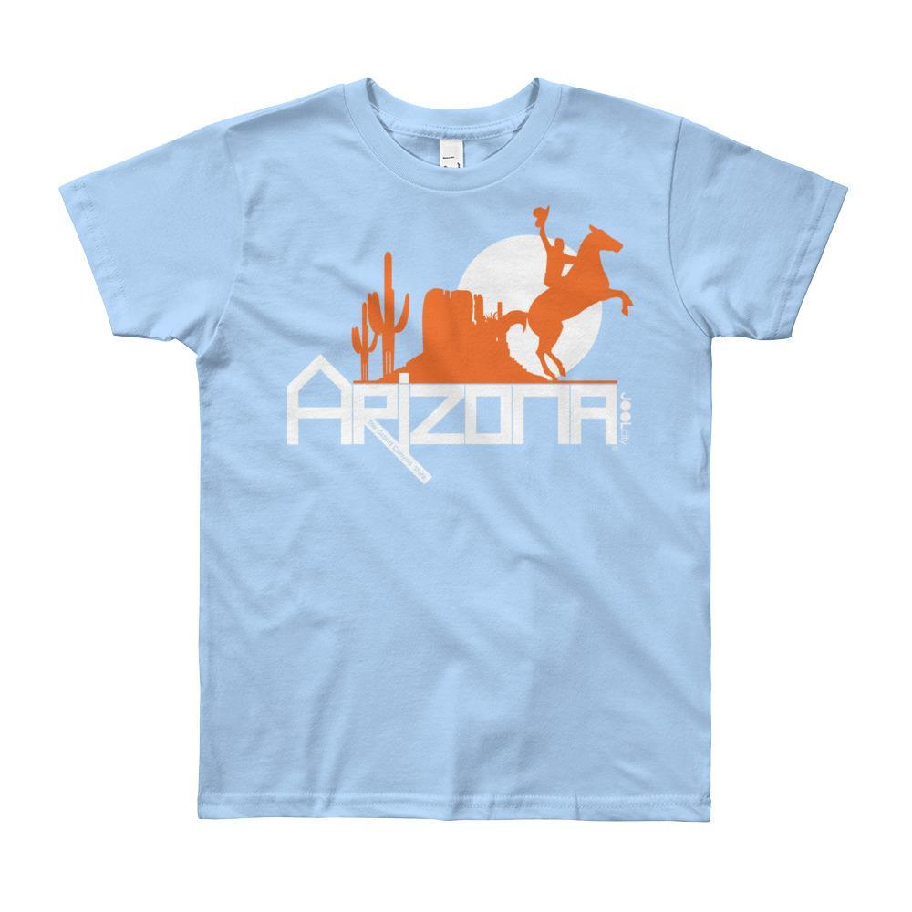 Arizona Cowboy Canyon Youth Short Sleeve T-Shirt T-Shirts Baby Blue / 12yrs designed by JOOLcity