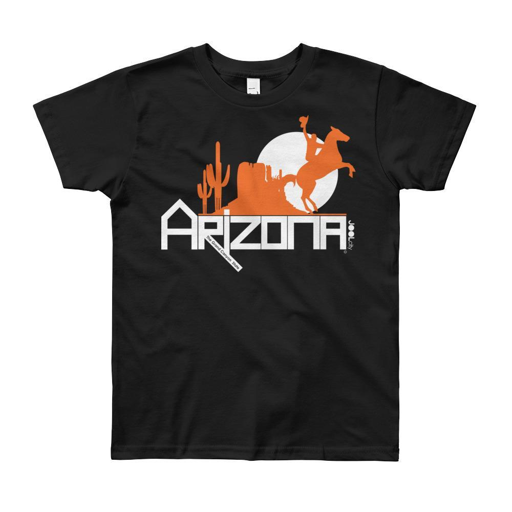 Arizona Cowboy Canyon Youth Short Sleeve T-Shirt T-Shirts Black / 12yrs designed by JOOLcity