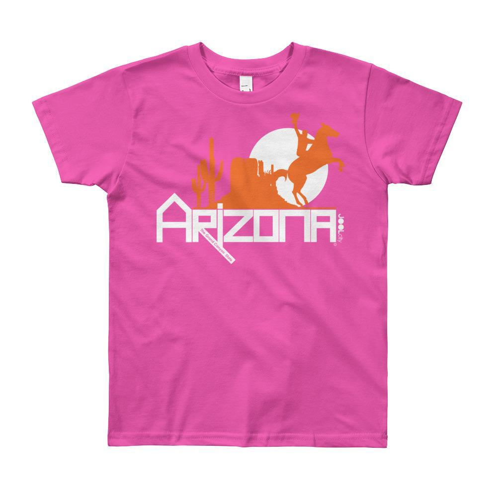 Arizona Cowboy Canyon Youth Short Sleeve T-Shirt T-Shirts Fuchsia / 12yrs designed by JOOLcity