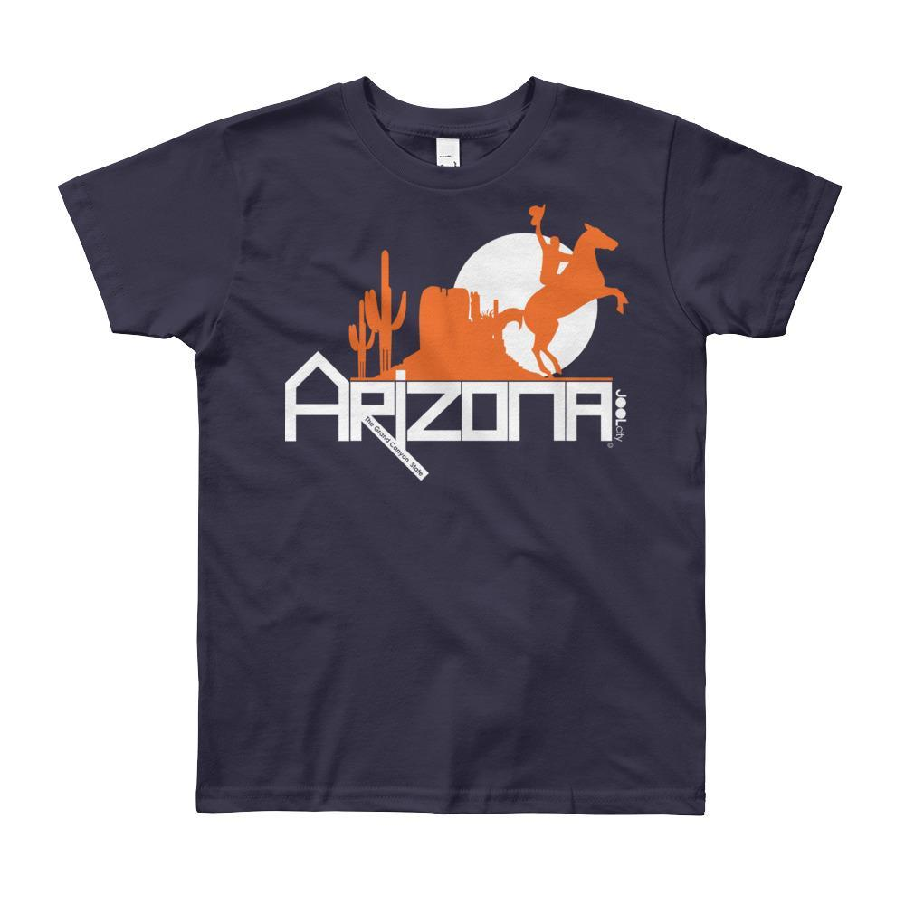 Arizona Cowboy Canyon Youth Short Sleeve T-Shirt T-Shirts Navy / 12yrs designed by JOOLcity