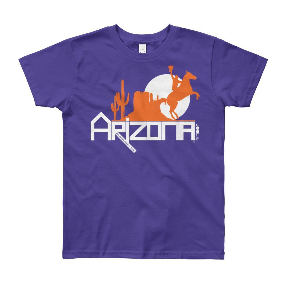Arizona Cowboy Canyon Youth Short Sleeve T-Shirt T-Shirts Purple / 12yrs designed by JOOLcity