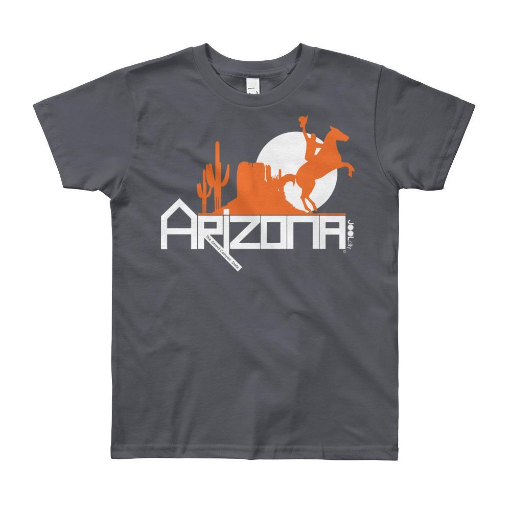 Arizona Cowboy Canyon Youth Short Sleeve T-Shirt T-Shirts Slate / 12yrs designed by JOOLcity