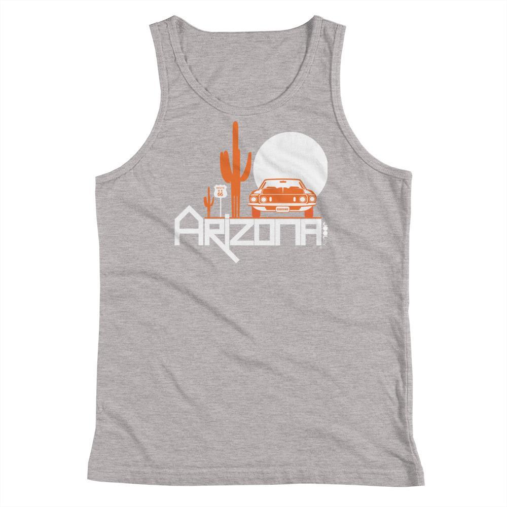 Arizona Cactus Cruise Youth Tank Top Tank Tops Athletic Heather / YS designed by JOOLcity
