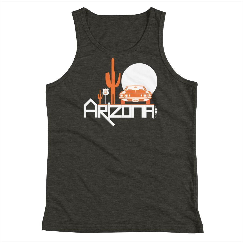 Arizona Cactus Cruise Youth Tank Top Tank Tops Dark Grey Heather / YS designed by JOOLcity
