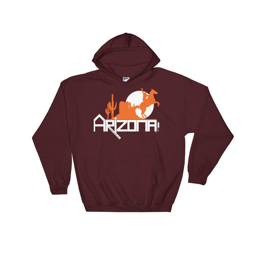Arizona Cowboy Canyon Hooded Sweatshirt Hoodies Maroon / 2XL designed by JOOLcity