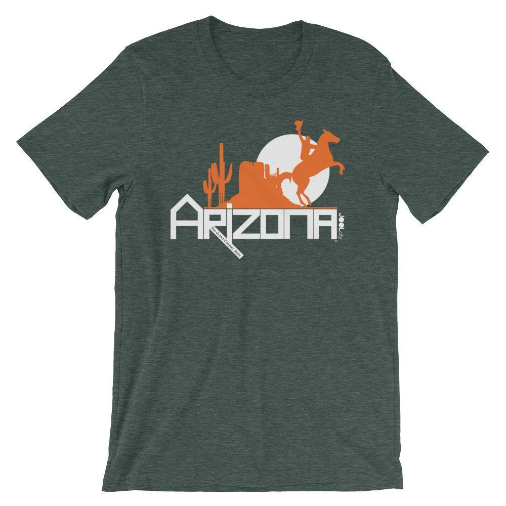 Arizona Cowboy Canyon Short-Sleeve Men's T-Shirt T-Shirts Heather Forest / 2XL designed by JOOLcity