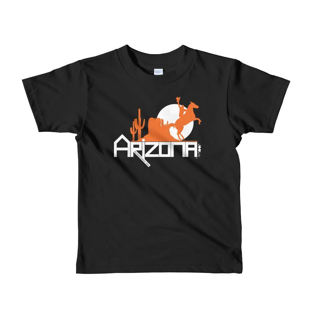Arizona Cowboy Canyon Toddler Short Sleeve T-shirt T-Shirts Black / 6yrs designed by JOOLcity