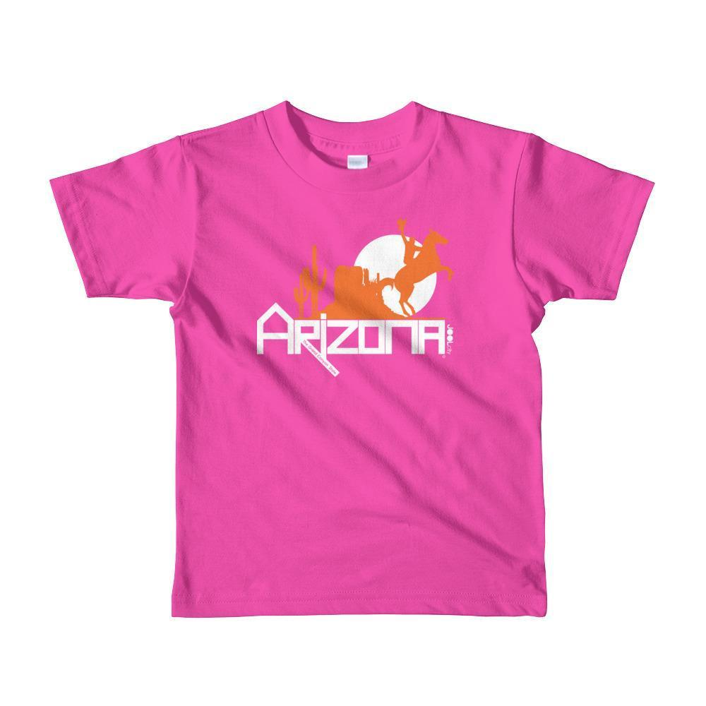 Arizona Cowboy Canyon Toddler Short Sleeve T-shirt T-Shirts Fuchsia / 6yrs designed by JOOLcity