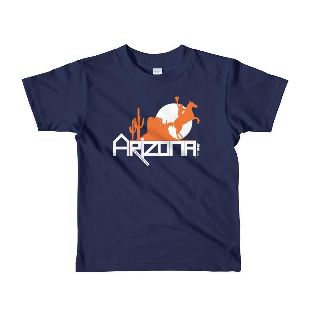 Arizona Cowboy Canyon Toddler Short Sleeve T-shirt T-Shirts Navy / 6yrs designed by JOOLcity