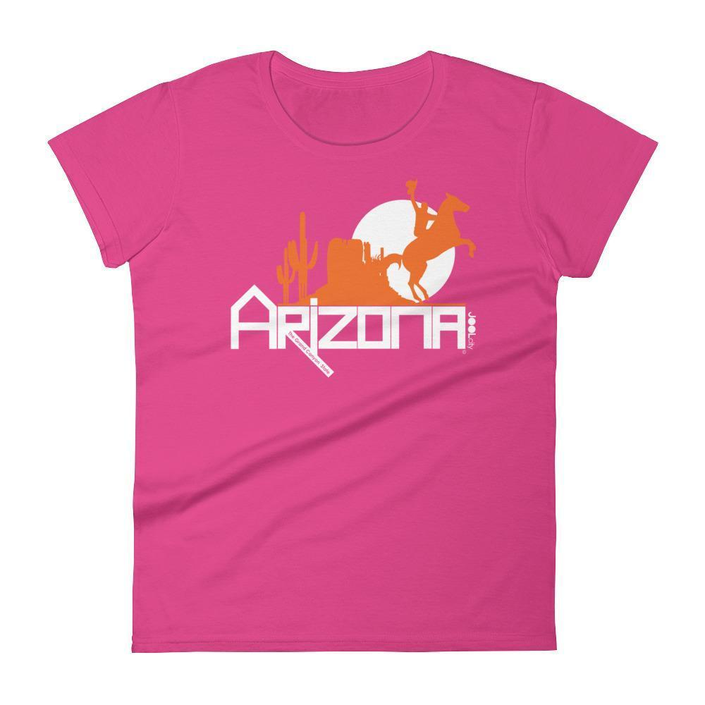 Arizona Cowboy Canyon Women's Short Sleeve T-shirt T-Shirts Hot Pink / 2XL designed by JOOLcity