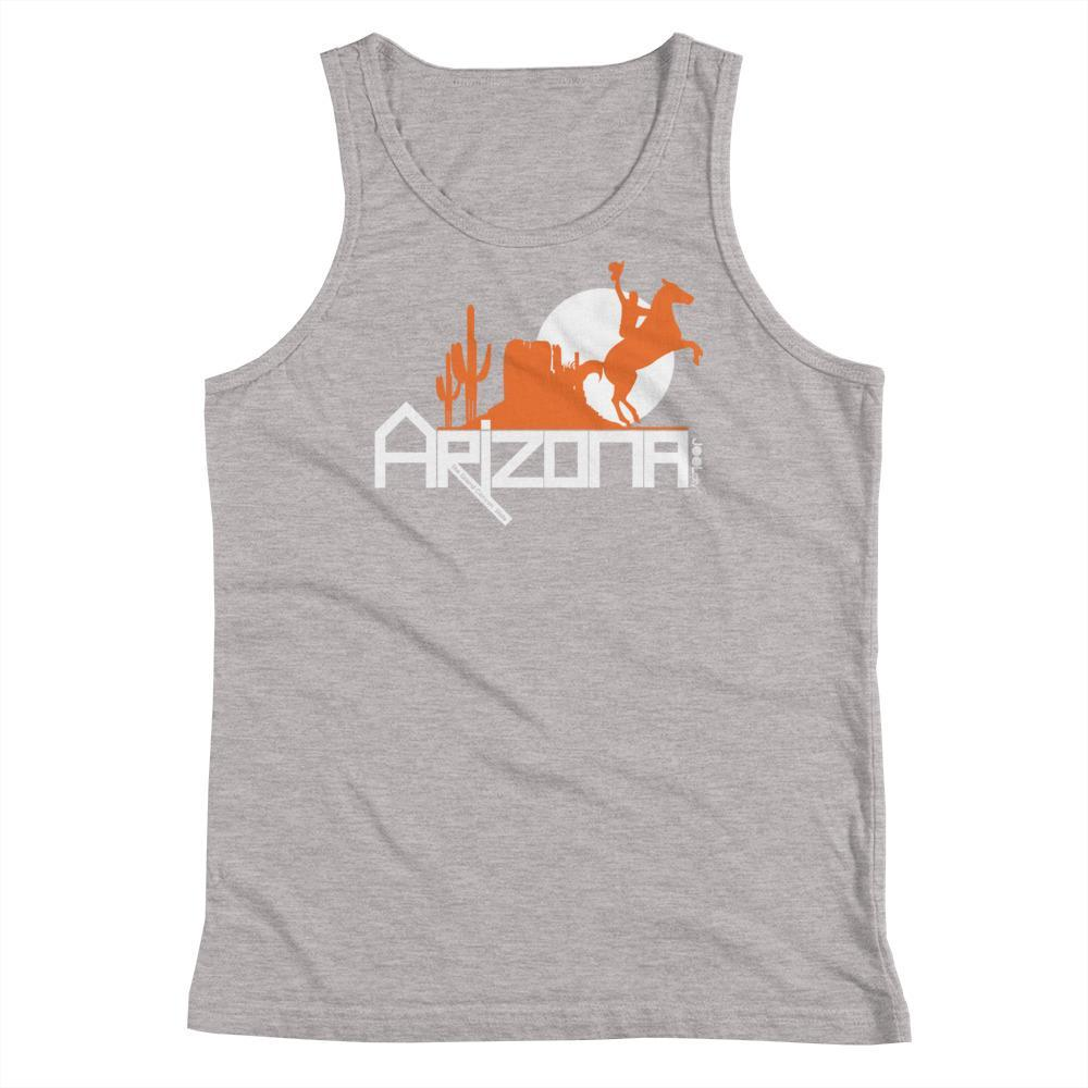 Arizona Cowboy Canyon Youth Tank Top Tank Tops Athletic Heather / YS designed by JOOLcity