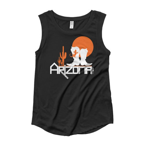 Arizona Desert Booties Ladies' Cap Sleeve Tank-Top Tank Tops Black / XL designed by JOOLcity