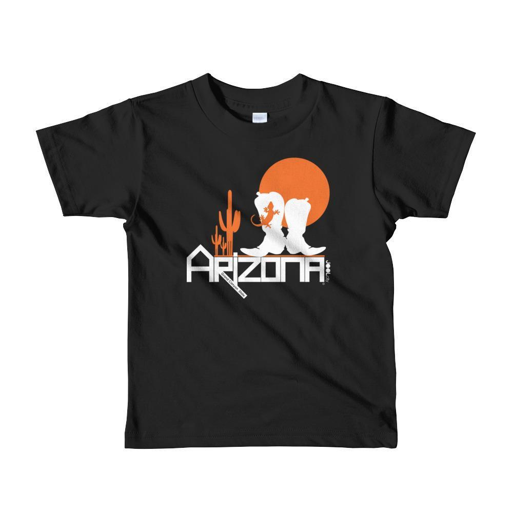 Arizona Desert Booties Toddler Short Sleeve T-shirt T-Shirts Black / 6yrs designed by JOOLcity