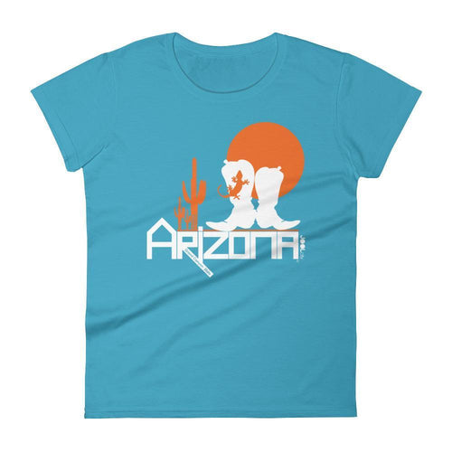 Arizona Desert Booties Women's Short Sleeve T-shirt T-Shirts Caribbean Blue / 2XL designed by JOOLcity
