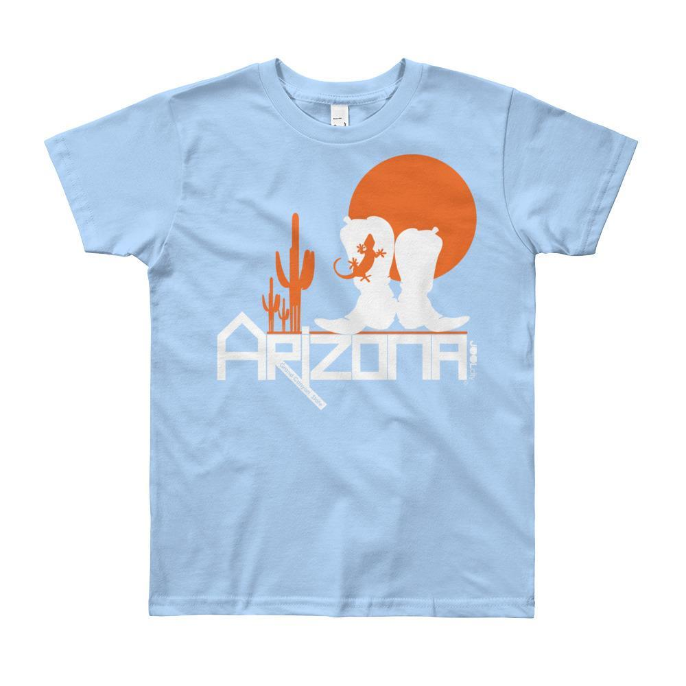 Arizona Desert Booties Youth Short Sleeve T-Shirt T-Shirts Baby Blue / 12yrs designed by JOOLcity