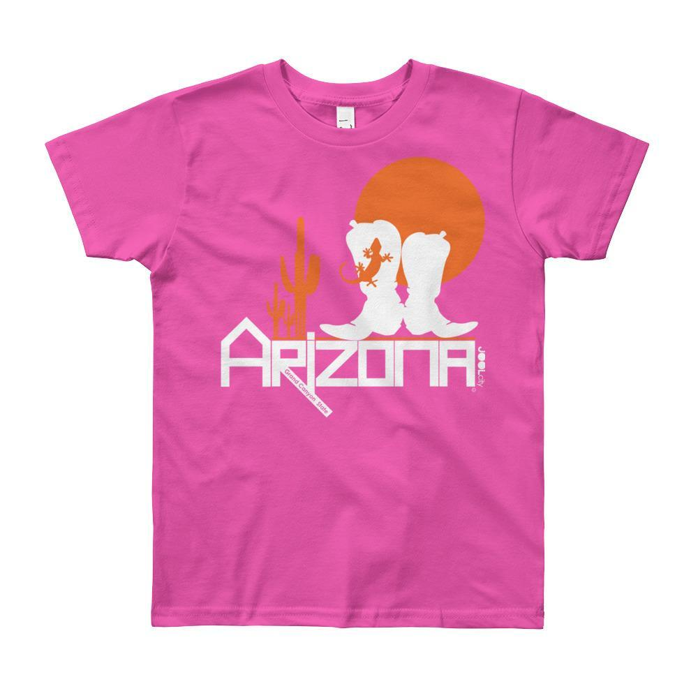 Arizona Desert Booties Youth Short Sleeve T-Shirt T-Shirts Fuchsia / 12yrs designed by JOOLcity