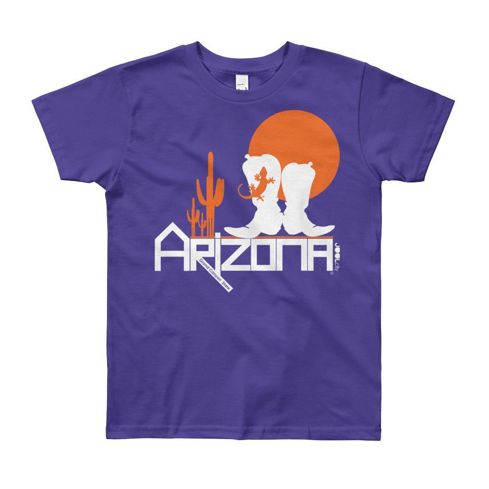 Arizona Desert Booties Youth Short Sleeve T-Shirt T-Shirts Purple / 12yrs designed by JOOLcity