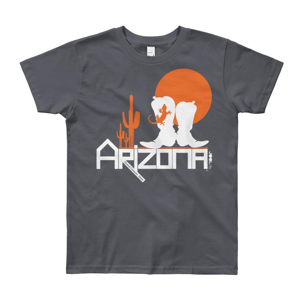 Arizona Desert Booties Youth Short Sleeve T-Shirt T-Shirts Slate / 12yrs designed by JOOLcity