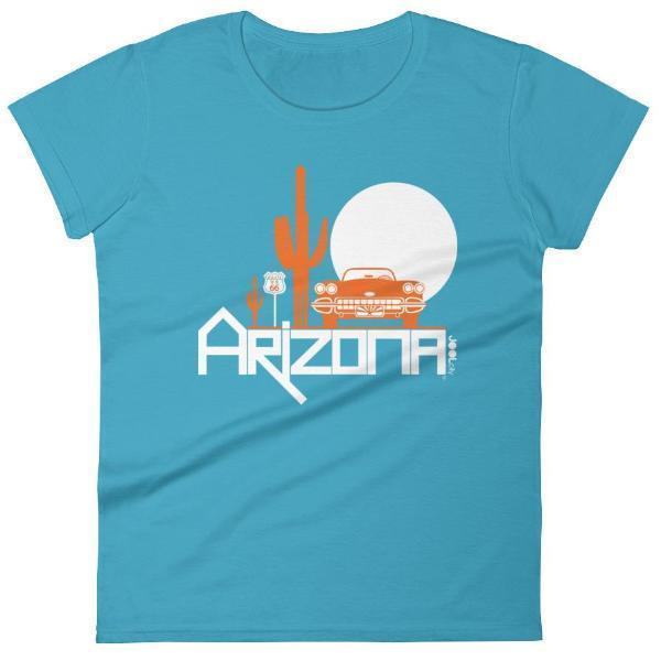 Arizona Desert Ride Women's Short Sleeve T-shirt T-Shirt Caribbean Blue / 2XL designed by JOOLcity