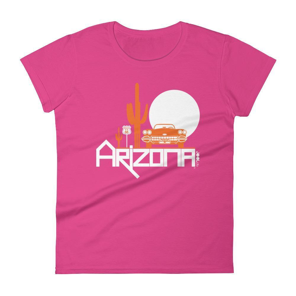 Arizona Desert Ride Women's Short Sleeve T-shirt T-Shirt Hot Pink / 2XL designed by JOOLcity