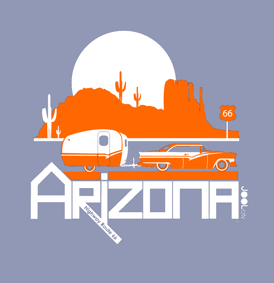 Arizona Retro Route 66 Baby Onesie