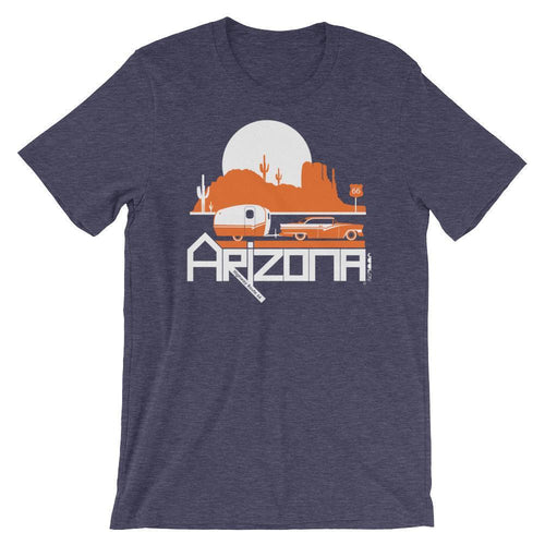 Arizona Retro Route 66 Short-Sleeve Men's T-Shirt T-Shirt Heather Midnight Navy / 2XL designed by JOOLcity